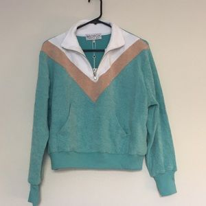 NWT Wildfox zip up pullover
